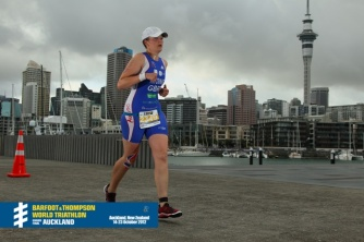 Running to the finish in Auckland