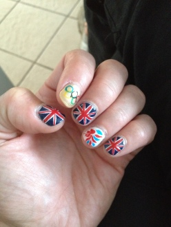 Olympic nails! August 2012