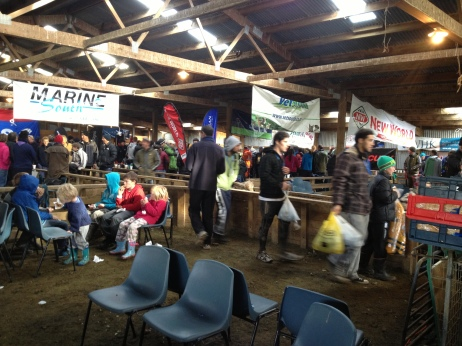 The sheep shed registration area!