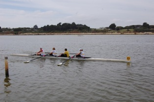 victory in women's fours race