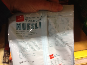 reduced fat muesli