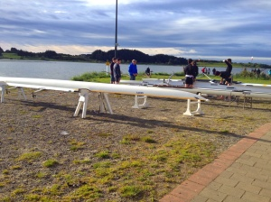 Sprint regatta set up