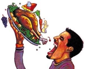 Christmas glutton