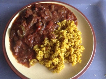 Casserole and pilau rice