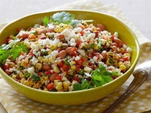 Mexican brown rice salad