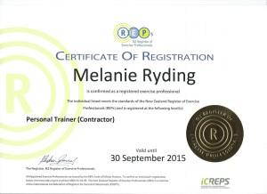 REPS Certificate